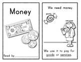 MONEY Emergent Reader for Kindergarten: Social Studies/Math