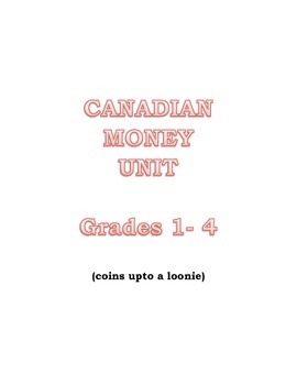 MONEY UNIT CANADIAN