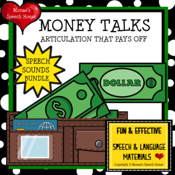 MONEY WALLET SPEECH THERAPY WORKSHEETS LOW PREP NO PREP