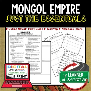 MONGOL EMPIRE Outline Notes JUST THE ESSENTIALS Unit Review, Outline
