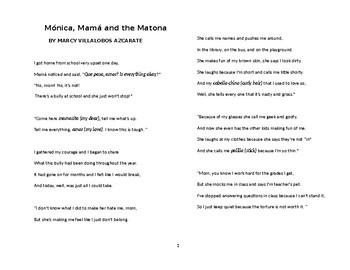MONICA, MAMA AND THE MATONA (THE BULLY)