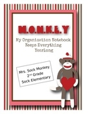 Sock Monkey MONKEY Binder