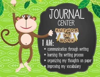 MONKEYS - Classroom Decor: Center Signs, student cards