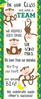 MONKEYS - Classroom Decor: LARGE BANNER, In Our Class