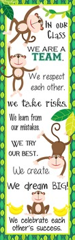 MONKEYS - Classroom Decor: X-LARGE BANNER, In Our Class ...