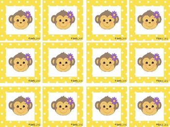 MONKEY MATCHING-Upper and Lower Case Letter Matching Activity