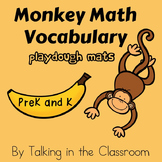 MONKEY MATH VOCABULARY PLAYDOUGH MATS