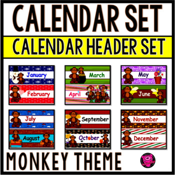MONTHS of the YEAR and CALENDAR MONTHS with MONKEY THEME