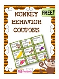 MONKEY Themed Behavior Reward Coupons FREEBIE