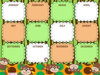 MONKEY Themed Birthday Displays