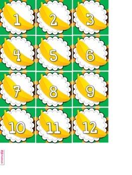 MONKEY Themed Calendar Display Set