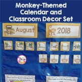 MONKEY Themed Classroom Decor Materials Editable Pieces