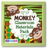 MONKEY Themed Classroom Decor Materials Pack