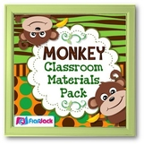MONKEY Themed Classroom Decor Materials Pack