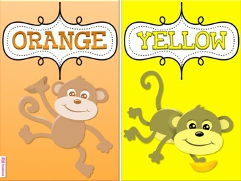 MONKEY Themed Color Cards Posters