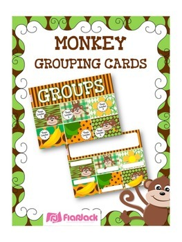 MONKEY Themed Grouping Cards