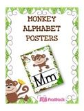 MONKEY Themed Manuscript Alphabet Posters
