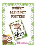 MONKEY Themed Manuscript Alphabet Posters