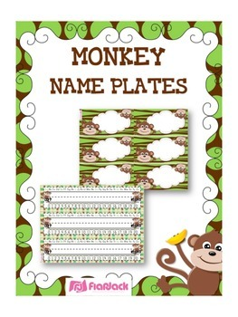 Monkey Name Tags Worksheets Teaching Resources Tpt