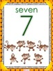 MONKEY Themed Number Posters 0 to 20