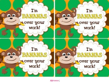 MONKEY Themed Student Message Cards (Postcards)