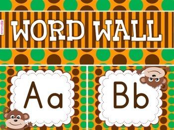 MONKEY Themed Word Wall Alphabet