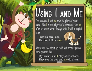 MONKEYS - 2nd grade GRAMMAR posters / Scott Foresman Reading