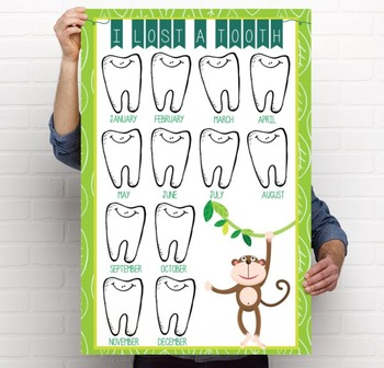 MONKEYS - Classroom Decor: I lost a TOOTH - size 24 x 36