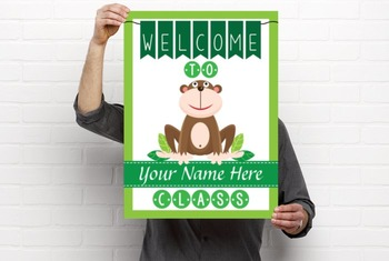 MONKEYS - Classroom Decor: WELCOME Poster - 18 x 24, you personalize