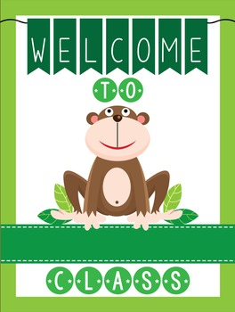 MONKEYS - Classroom Decor: WELCOME Poster - 18 x 24, you p