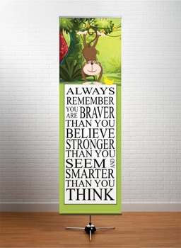 MONKEYS - Classroom Decor: X-LARGE BANNER, Always Remember