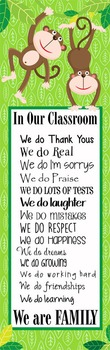 MONKEYS - Classroom Decor: X-LARGE BANNER, In Our Classroom We are Family