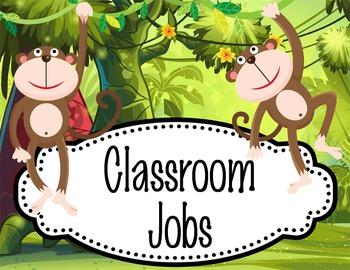 MONKEYS - Classroom Helpers JOBS clip chart