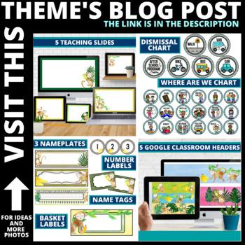 Monkey Classroom Theme Decor Google Classroom