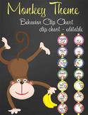 MONKEYS - Clip Chart BEHAVIOR, EDITABLE