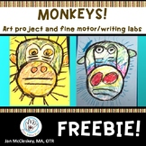 Free Art Project and Writing Activity. MONKEYS
