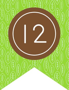 MONKEYS - Number Line Banner, 1 to 25, EDITABLE to continue