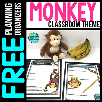 MONKEY Theme Decor Planner by Clutter Free Classroom