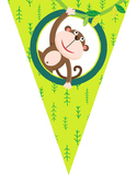 MONKEYS theme - Classroom Decor - Triangle Banners, CREATE a BANNER
