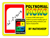 MONO - Uno Math Game for Polynomials - Degree, Coefficient