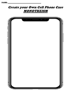 MONOTHEISM CREATE YOUR OWN CELL PHONE COVER