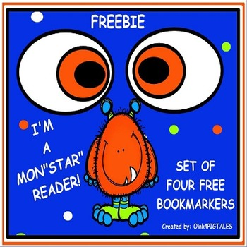 MONSTER BOOK MARKERS