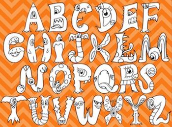 ALPHABET CLIPART: MONSTER ABCs