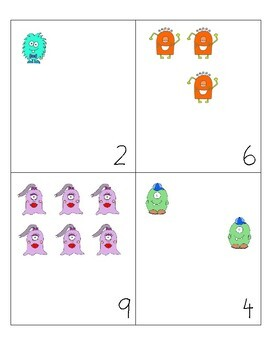 MONSTER ADDING (ADDING ACTIVITY 1-10) math busy bag