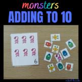 MONSTER ADDING (ADDING ACTIVITY 1-10) math busy bag