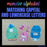 MONSTER ALPHABET (MATCHING CAPITAL AND LOWERCASE LETTERS)