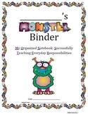 MONSTER BINDER HOMEWORK BINDER