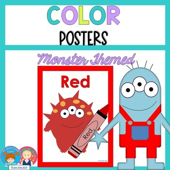 MONSTER COLOR POSTERS