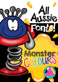 MONSTER COLOURS - QLD, NSW, VIC, TAS, SA FONTS