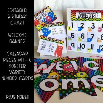 MONSTER Classroom Decor and Word Wall Bundle